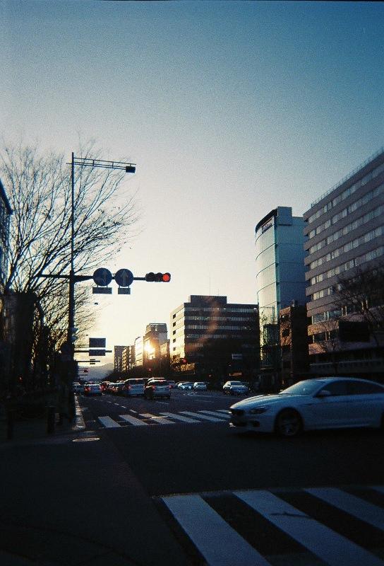 35mmフィルム京都の交差点