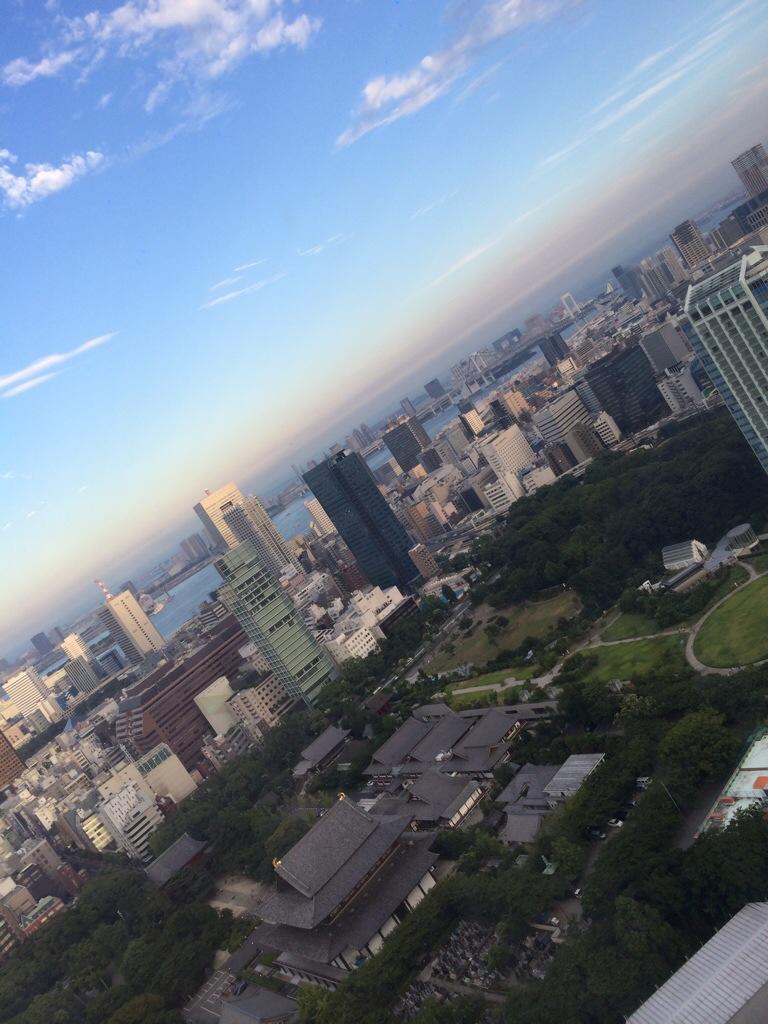 東京タワー夕焼け前