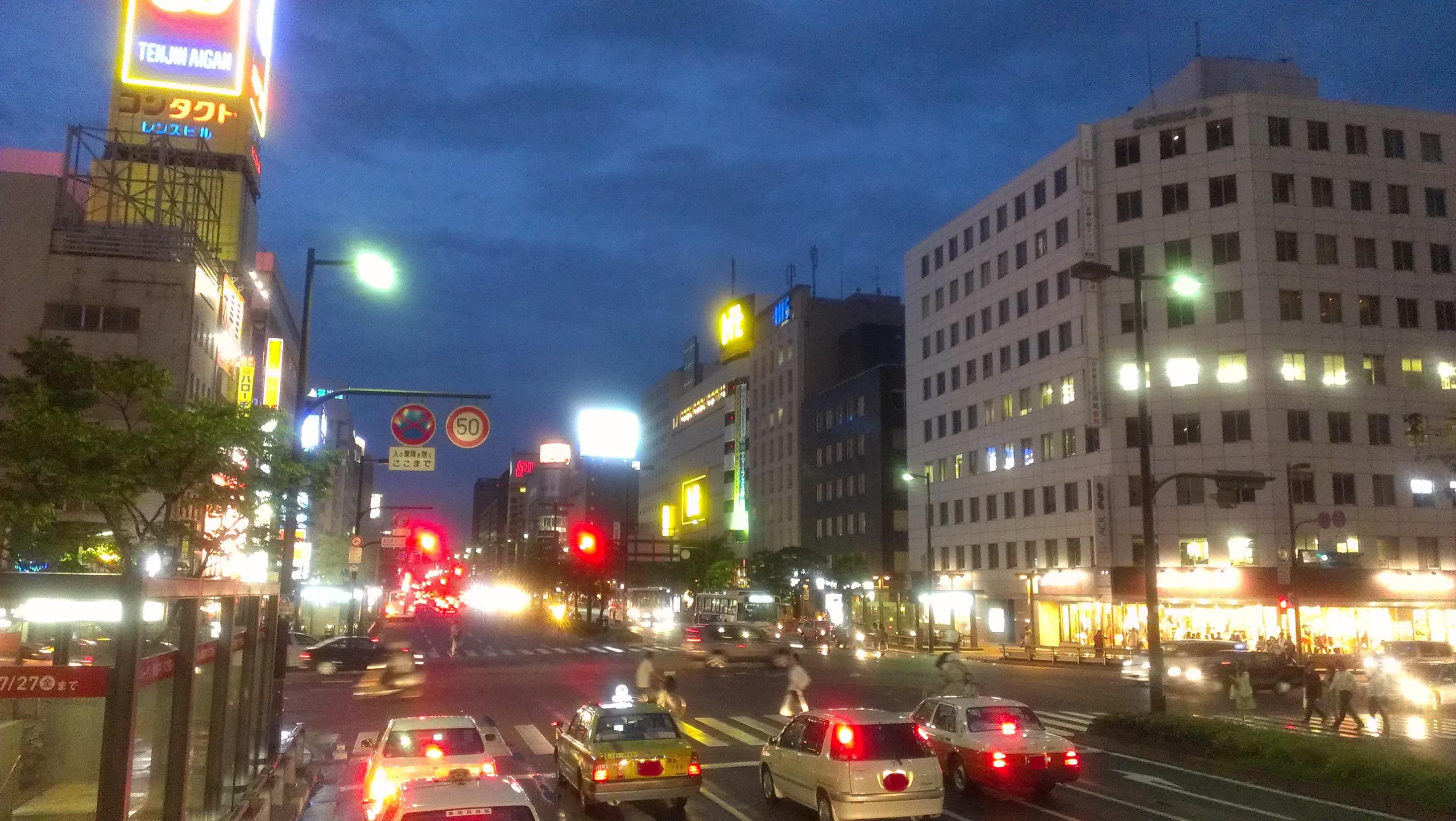 福岡の街(夜)