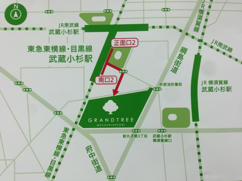 グランツリー地図