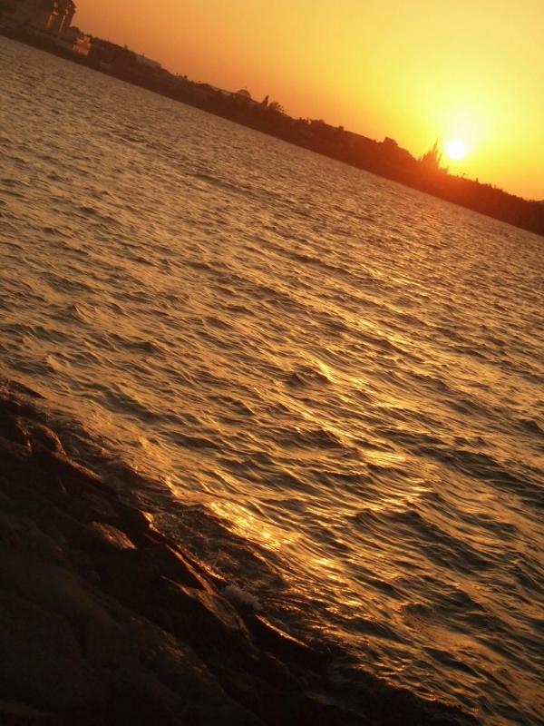 水面とシンデレラ城