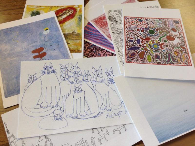 ポストカードのアートトリップーアートとわたし、ふたり旅。