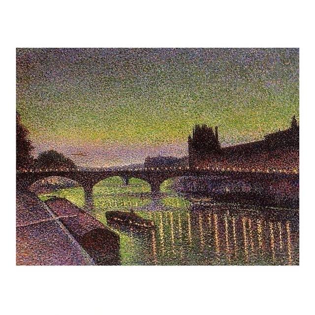 ルーブルとカルーゼル橋、夜の効果
