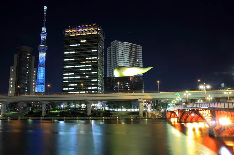 浅草 吾妻橋からの夜景