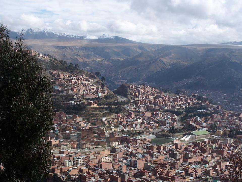 首都ラパスの風景