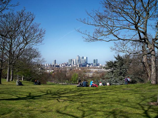 公園でピクニック