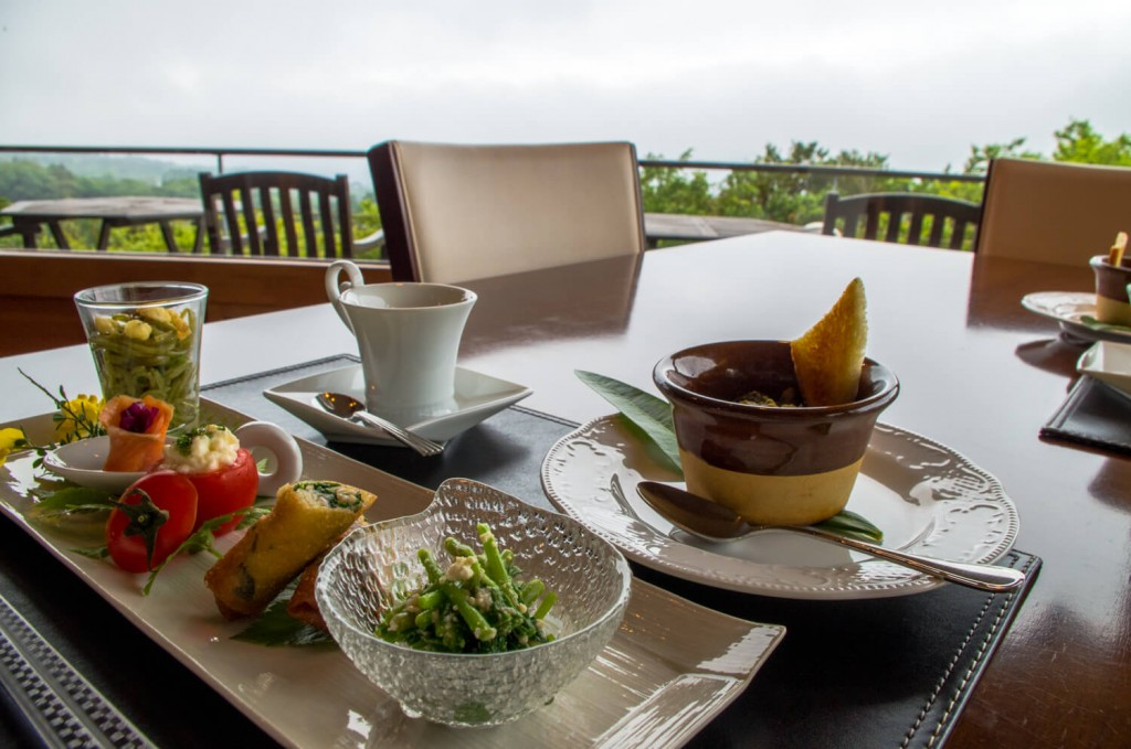 伊豆大島のリゾートホテル・マシオ‐ 高台から島を見下ろす。心奪われる。