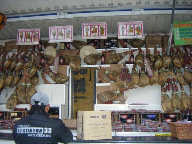 生ハム販売の屋台