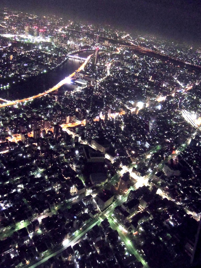 The city of tokyo from sky tree