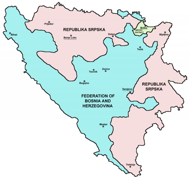 ボスニア地図
