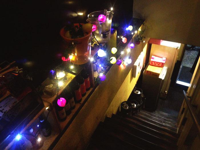 パクチー1階段