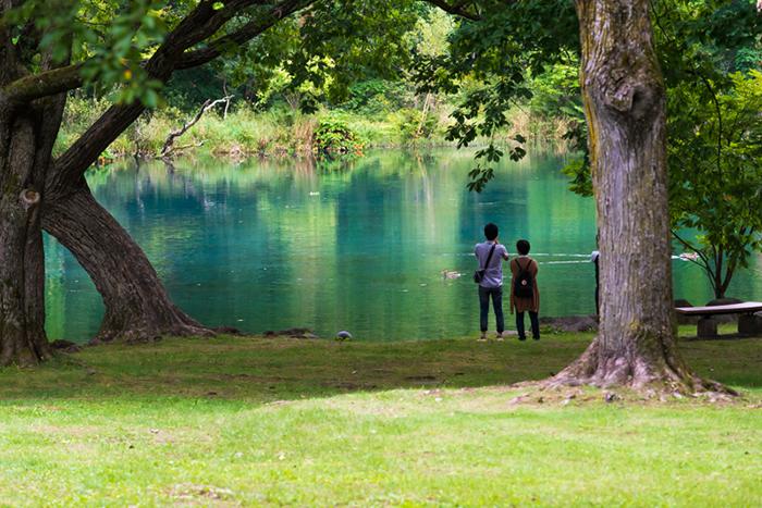 鳥沼公園・青い池