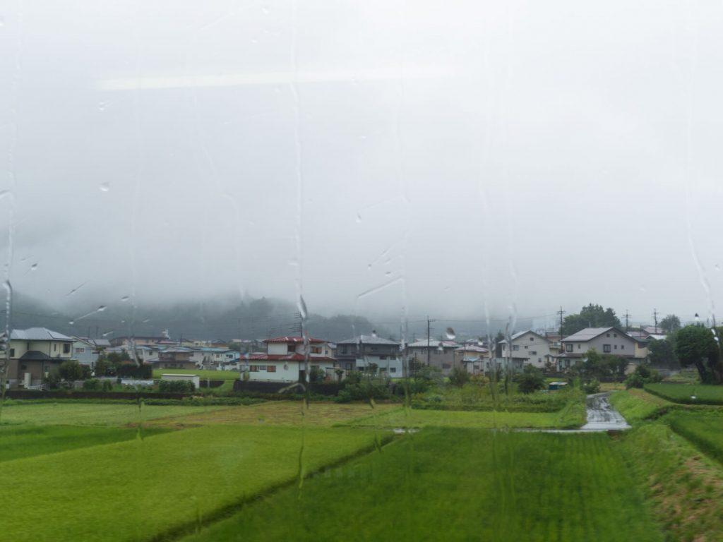 富士登山電車の車窓