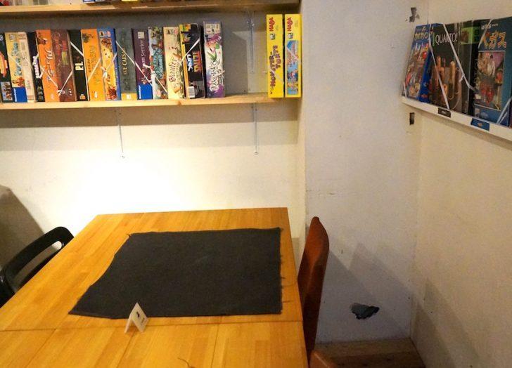 jellyjellycafe 渋谷 ボードゲーム カフェ 机