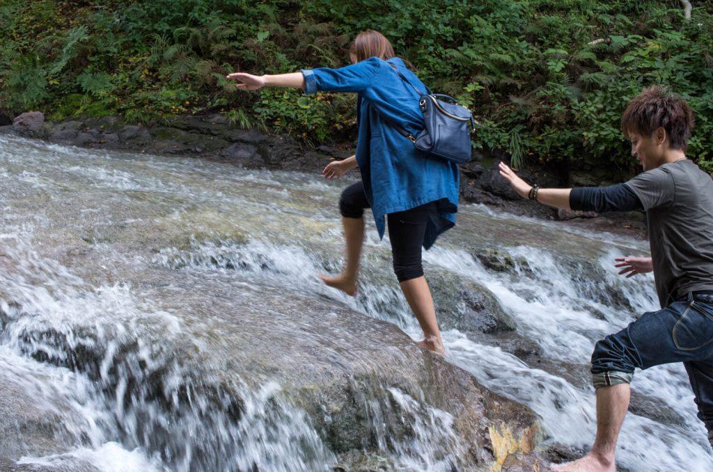 カムイワッカ湯の滝