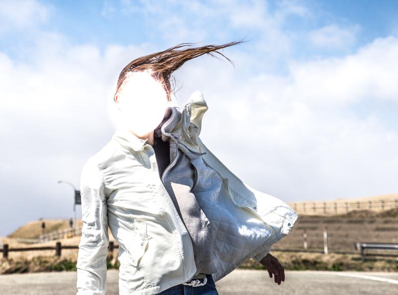 風を利用して思い出作り