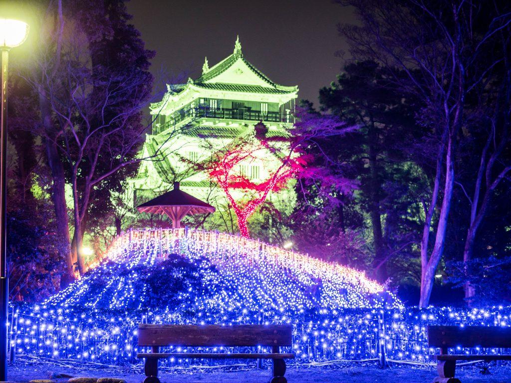 岡崎公園のイルミネーションが公園なのにすごすぎ!入場無料で申し訳ない気分に。