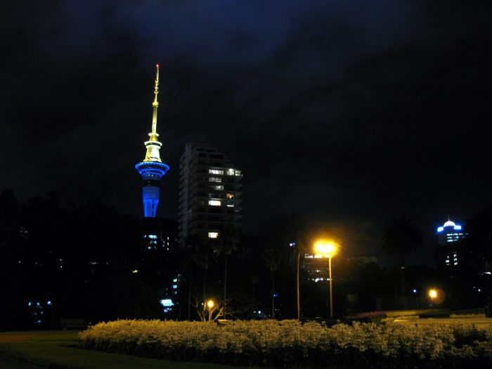 ニュージーランド オークランド 夜