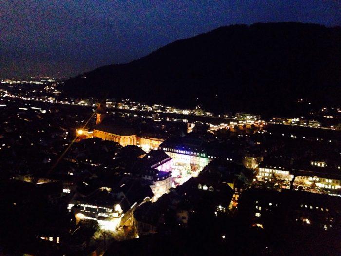 ハイデルベルク城の夜