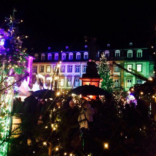 ハイデルベルク夜のライトアップ