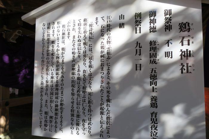 鶏石神社説明書き