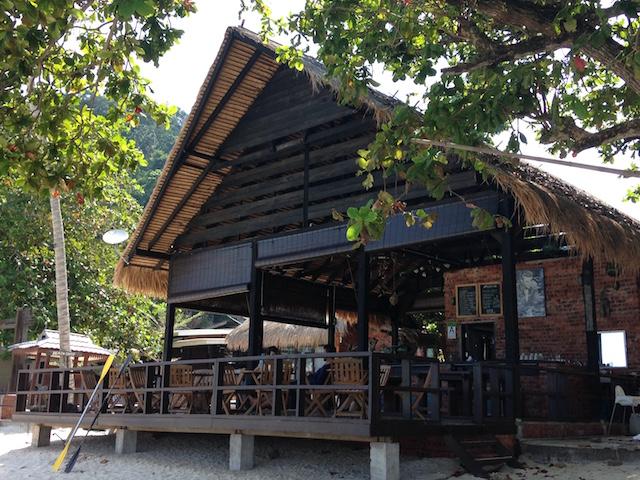 カパス島のカフェ