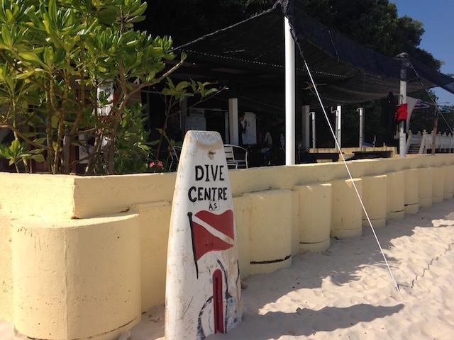 カパス島ダイビングショップ