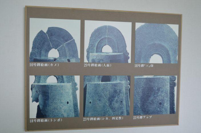 加茂岩倉遺跡銅鐸の絵の説明パネル