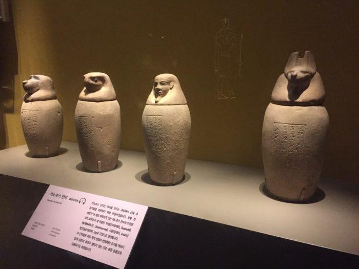 現在はエジプトの宝物展