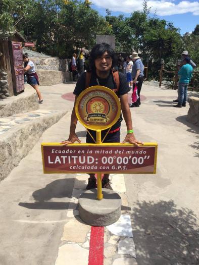 エクアドルの赤道