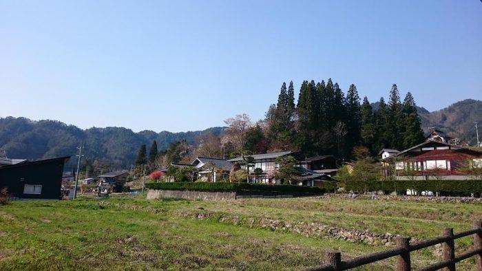 飛騨古川ののどかな風景