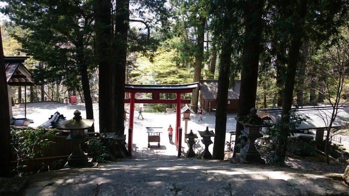 日枝神社を見下ろす