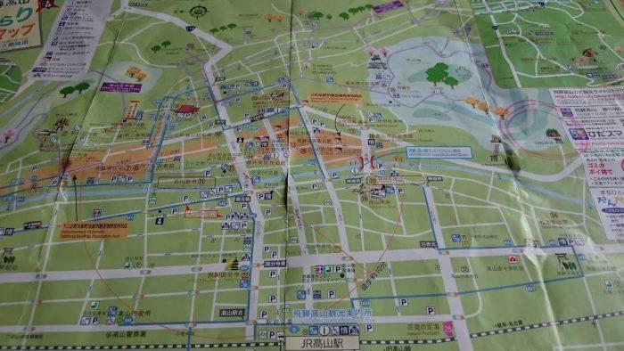 高山駅周辺マップ