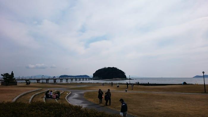 竹島園地から見る竹島