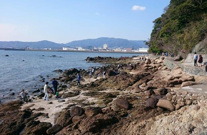 竹島の外周