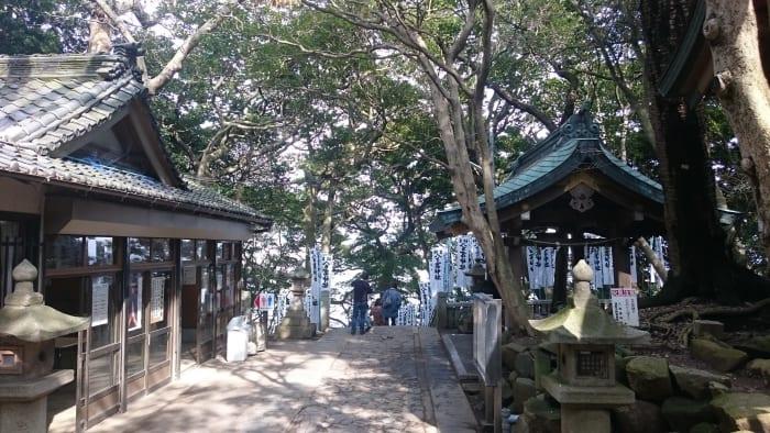 八百富神社での木漏れ日