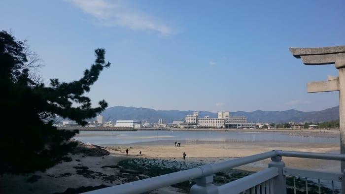 竹島の橋付近