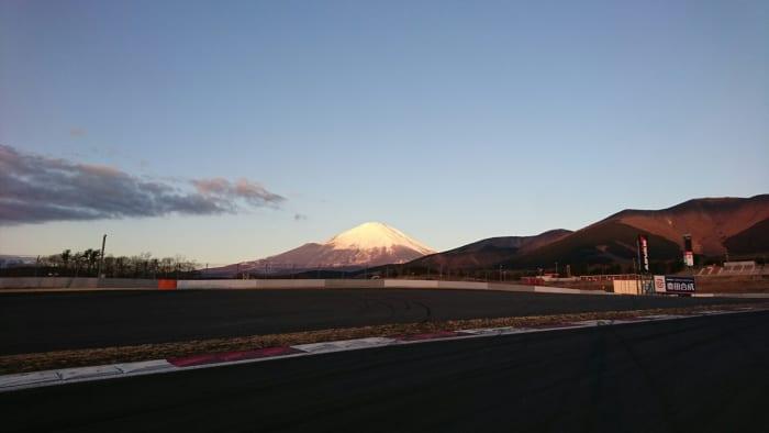 コース上から見える富士山