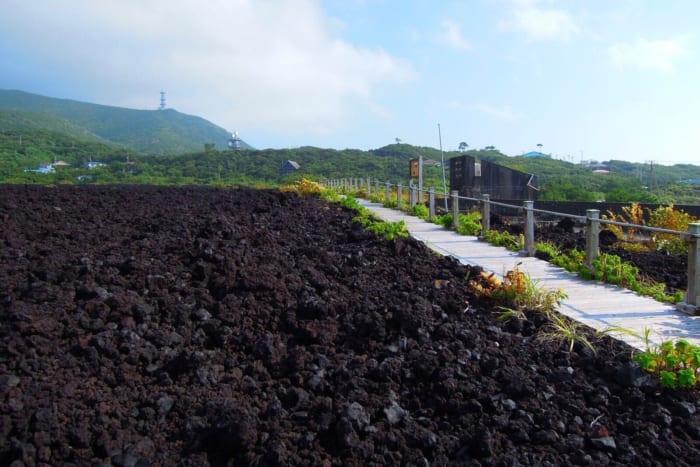 三宅島, 廃墟, 阿古中学校, 火山体験遊歩道