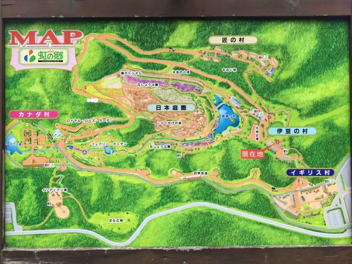 虹の郷マップ