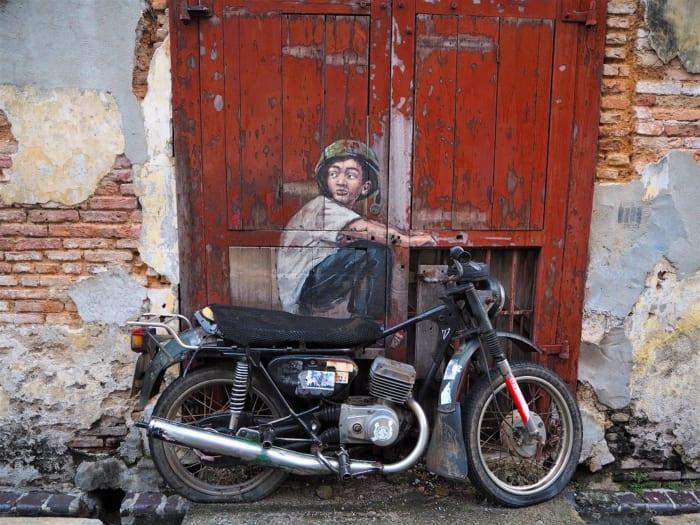 ストリートアートの街に進化したペナン島・ジョージタウンの作品達を見てほしい