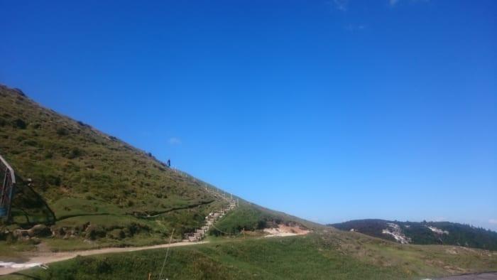 絶景への山