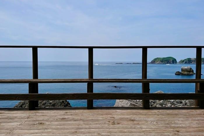 新島, 湯の浜露天温泉, 景色