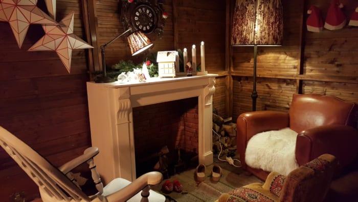 サンタさんの家 暖炉