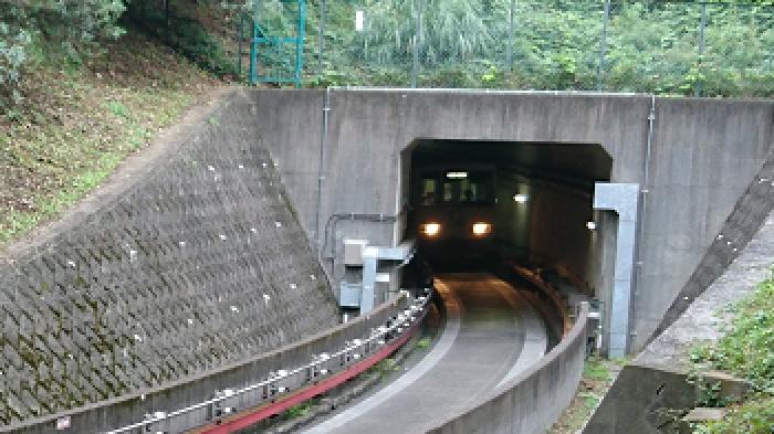 「千と千尋の神隠し」海原電鉄のトンネルのモデル