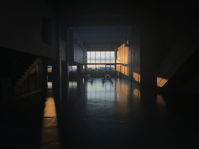 東海 講堂窓
